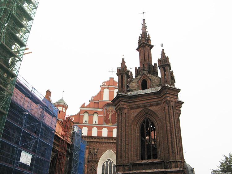 Вильнюс. Собор святой Анны.
