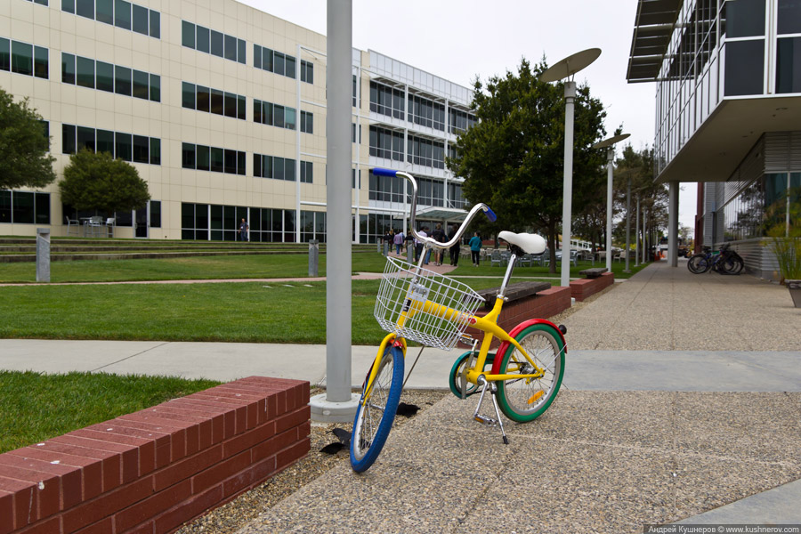 Googleplex - кампус Google в Mountain View, California