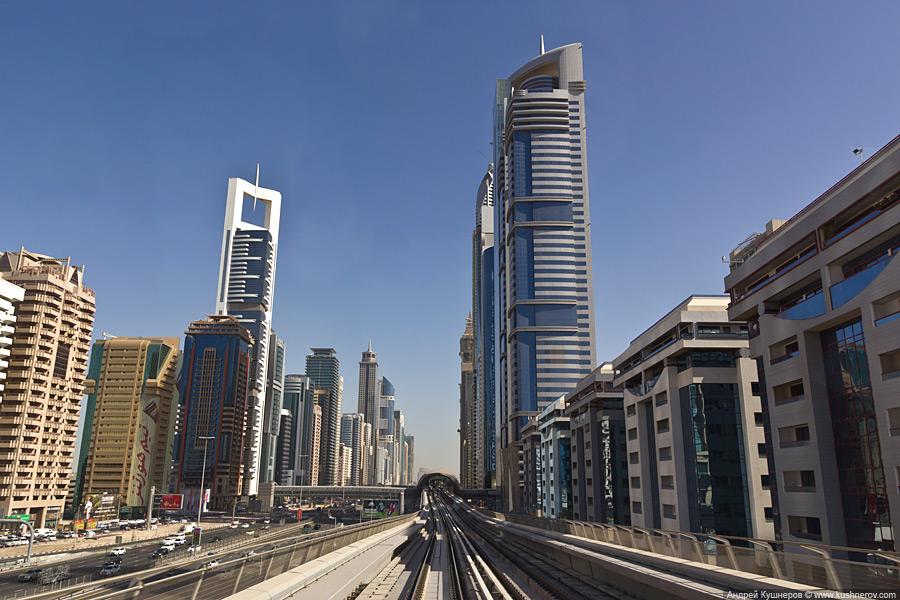 Дубай -  Небоскрёбы на Шоссе шейха Зайда