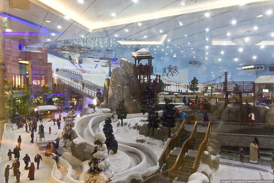 Дубай - горнолыжный мини курорт в Emirates Mall