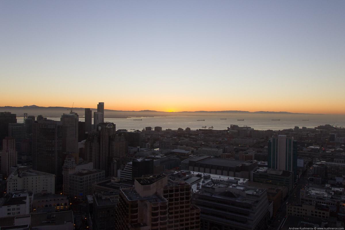 Сан-Франциско. Рассвет с небоскрёба