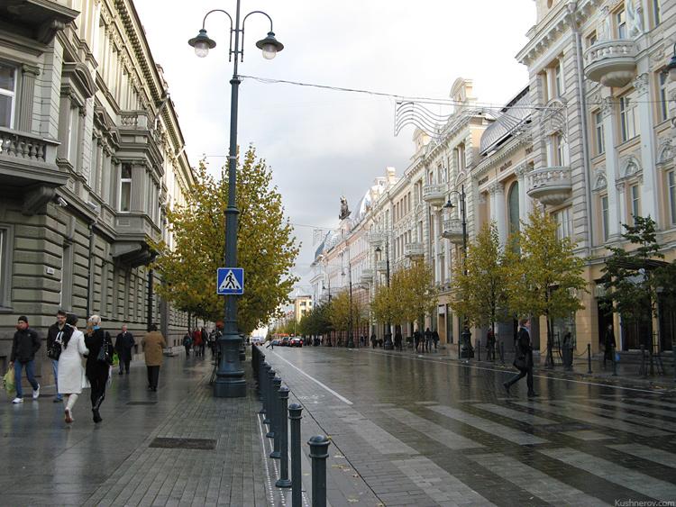 Вильнюс. Проспект Гедиминаса - центральная улица города.