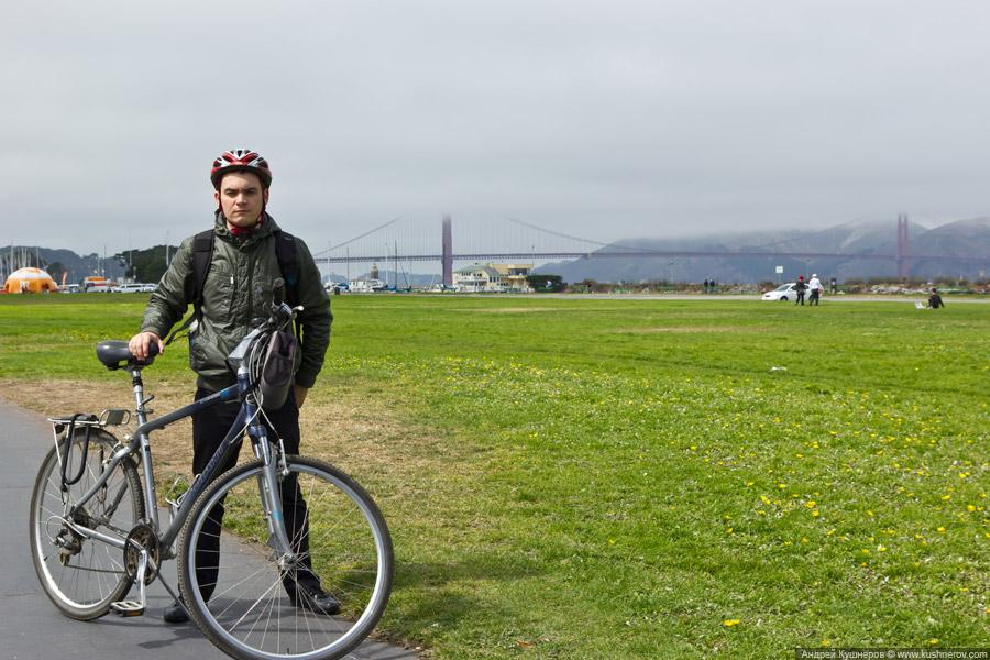 """Сан-Франциско - Я с великом на фоне моста """"Золотые ворота"""""""