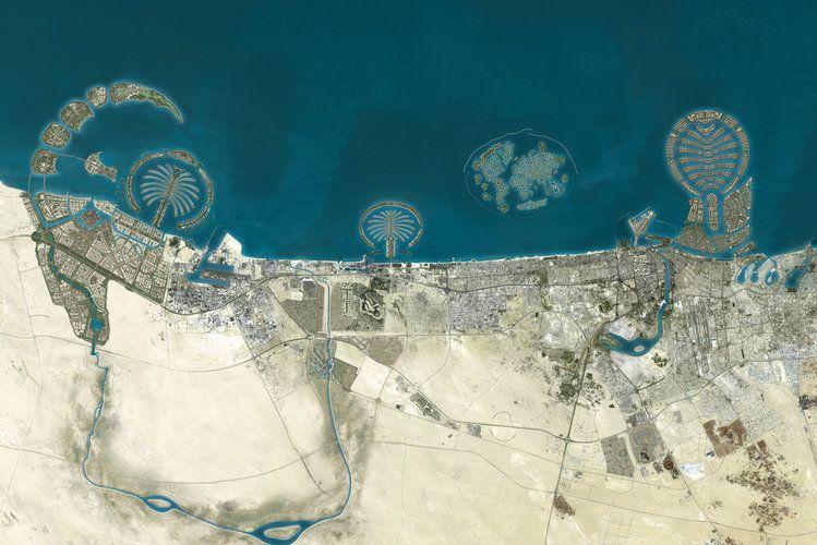 Карта архипелагов Дубая