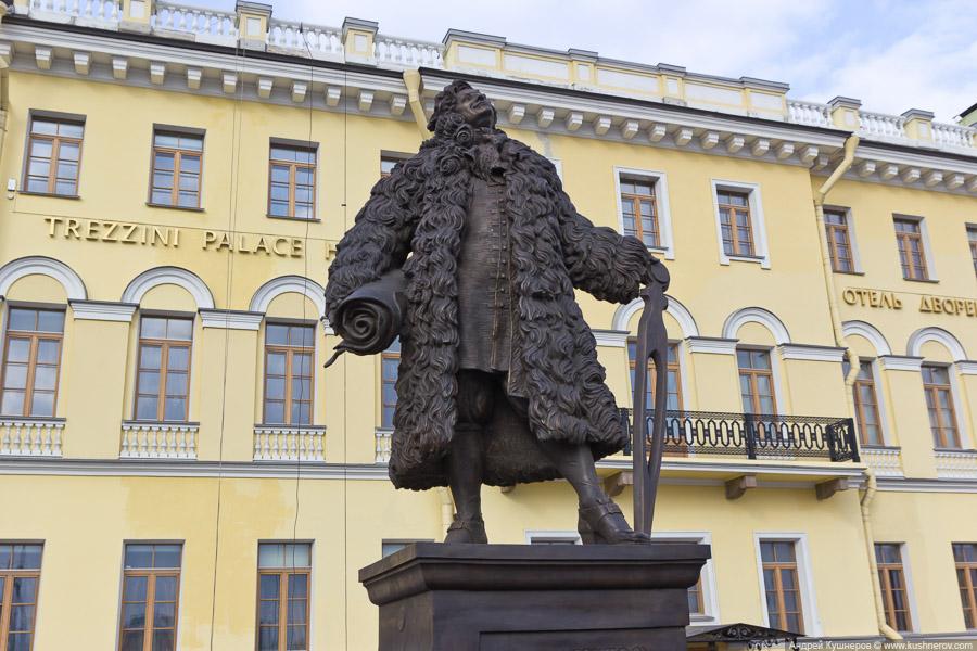 Санкт-Петербург. Памятник архитектору Доминико Трезини