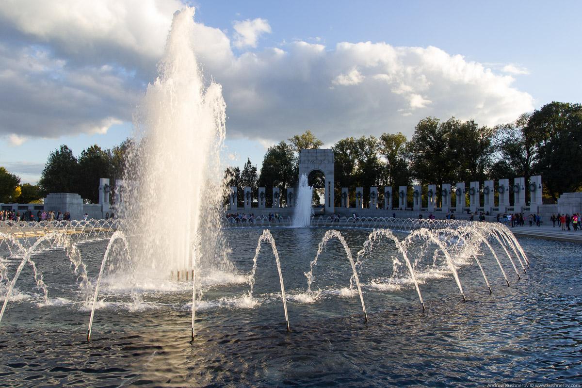 Вашингтон, округ Колумбия. Мемориал второй мировой войны
