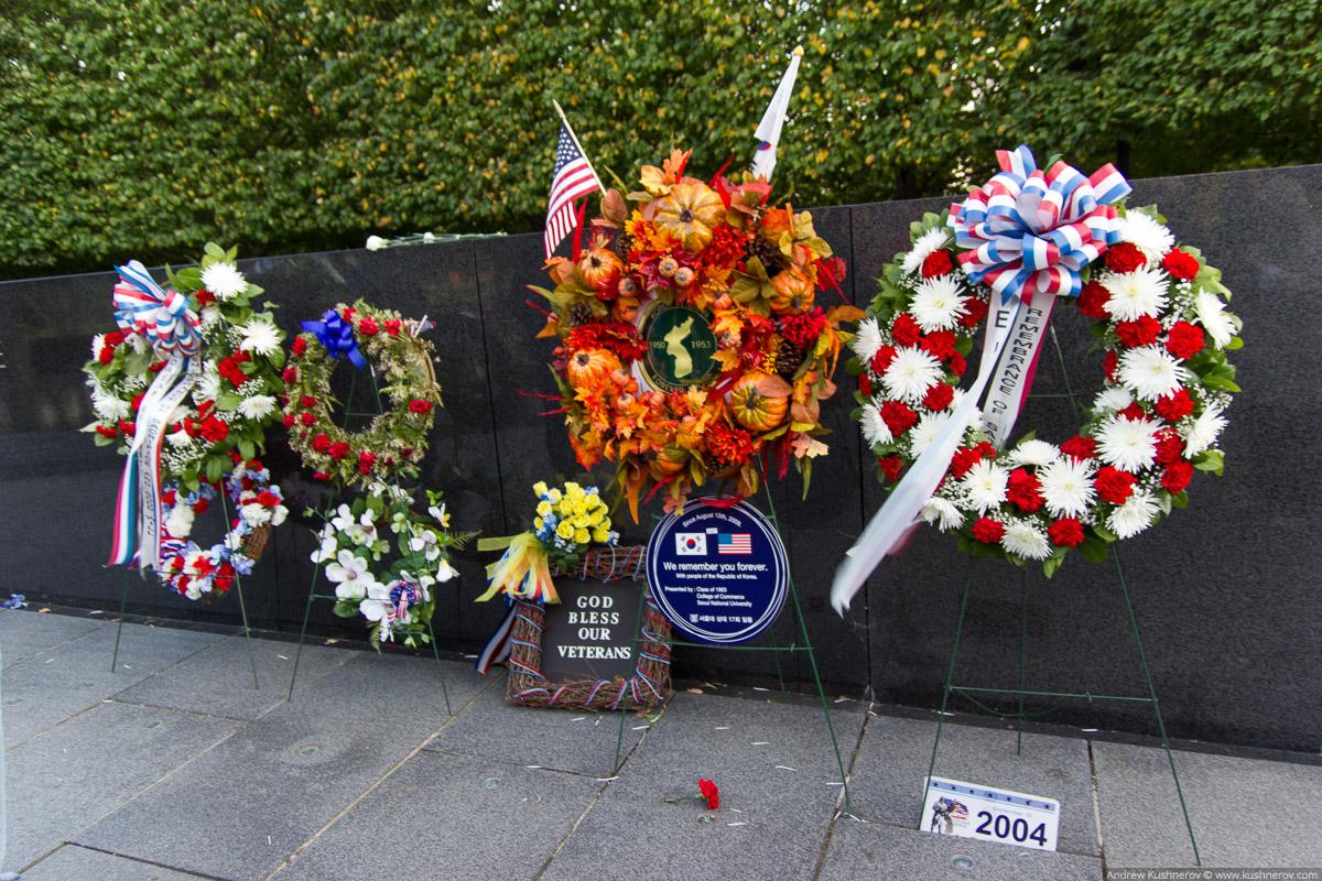 Вашингтон, округ Колумбия. Мемориал посвящённый ветеранам Корейской войны