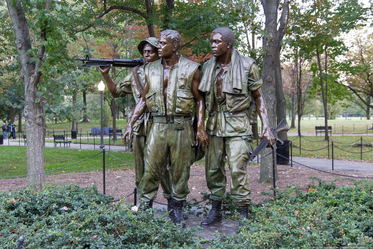 "Вашингтон, округ Колумбия. Скульптура ""Три солдата"""