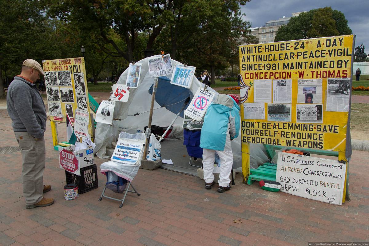 Вашингтон, округ Колумбия. Пикет около Белого Дома