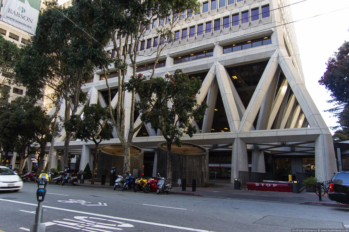 Сан-Франциско, основание небоскрёба-пирамиды Transamerica