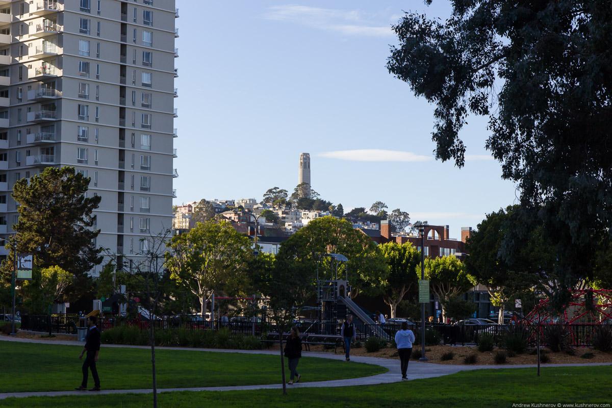 Сан-Франциско, вид на башню Койт