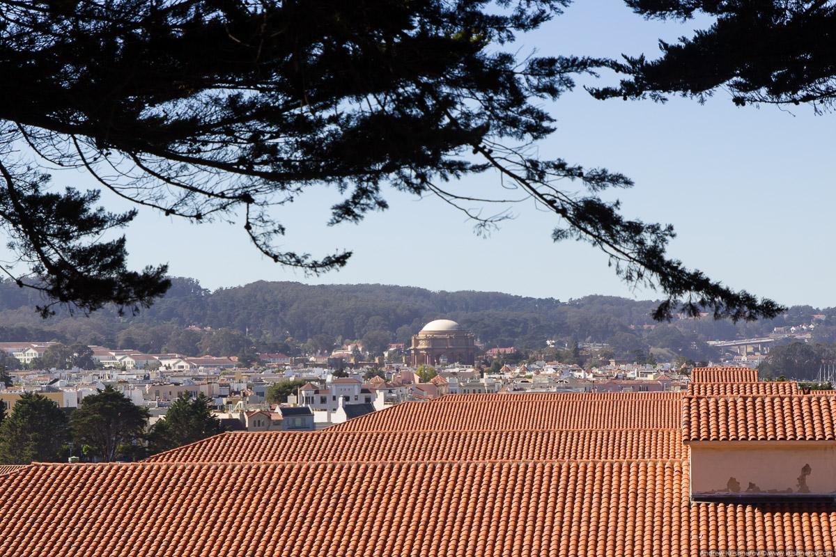 Сан-Франциско. Форт-Мейсон, вид на Дворец Изящных Искусcтв