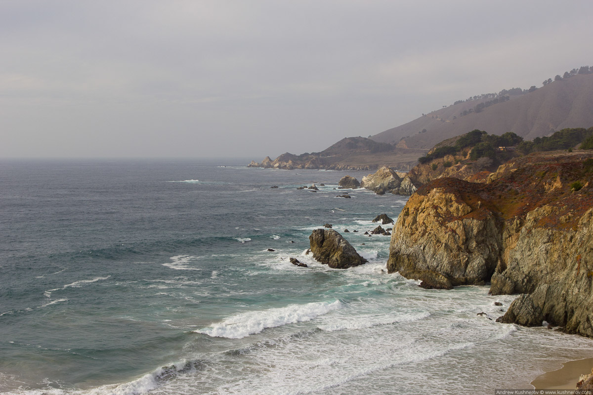 Калифорния. Дорога SR1, Биг Сюр