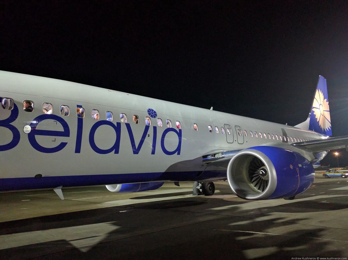 Новый Боинг 373-800 от Белавиа в новой ливрее с васильком